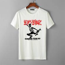 Black Tee Tshirts Skateboard Bones Brigade Tour Funny Vintage Powell Peralta'87