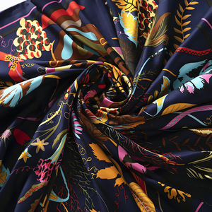 Image 3 - New Large Square Silk Scarf Women Shawls Flower Print Pattern Scarves 130*130CM Foulards Femme Echarpes Wrap Wholesale