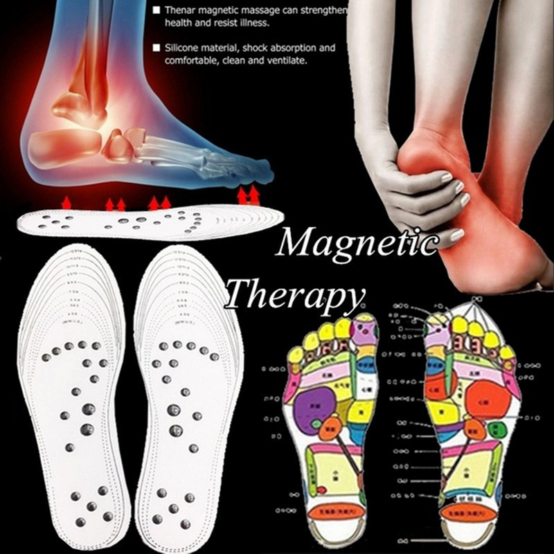 Unisex 1 Pair Unisex Magnet Insole Comfortable Promote Blood Circulation Slimming Insole Foot Magnetite Physiotherapy Insole