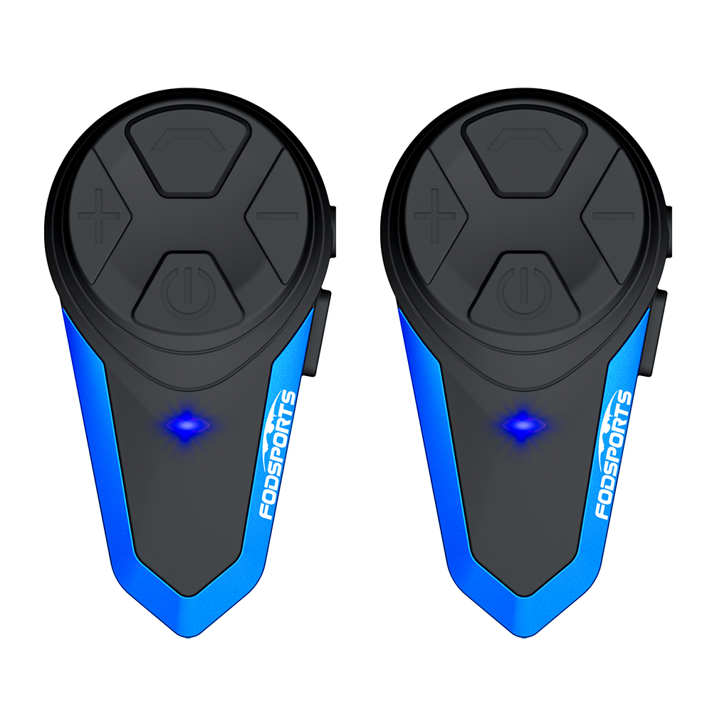 2PCS Fodsports BT-S3 Motorrad Helm Intercom Drahtlose Bluetooth Headset Wasserdichte BT Sprech Intercomunicador Moto FM