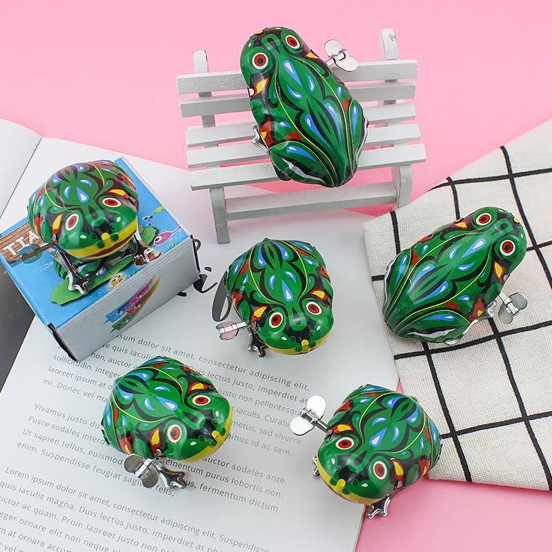 H-01 Alloy-Algam Frog 80 Nostalgic Wind-up Toy Winding Algam Frog Stall Hot Selling Toy