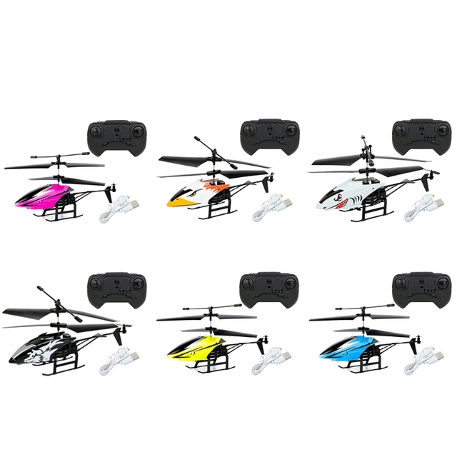 2 Channel Mini USB RC Helicopter Remote Control Aircraft Drone Model with Light for Kids Adults Toys 3