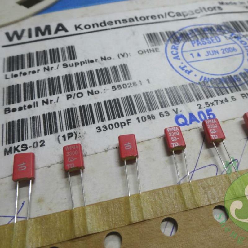 NOS 20 pcs 120pF 63V ±10 /% Ceramic Disc Capacitor