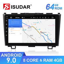 Isudar 1 Din Android 9 Auto Radio For Honda/CR-V/CRV 2006-2011 Car Multimedia Player Octa Core RAM 4G ROM 64G GPS Camera DVR DSP joying 2 din octa core android 8 1 car dvd gps for honda crv cr v 2007 2008 2009 2010 2011 wifi usb video radio hd 9 inch 4 64gb