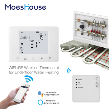 WiFi Smart Thermostat Wall-Hung Water Underfloor Heating Temperature Controller Work with Alexa Google Home convector resanta ok 1000 heating device electroconvector forced convection heater wall hung convector mechanical converter