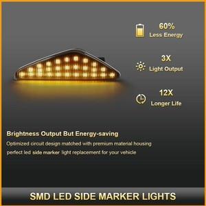 Image 2 - BeCar 2Pcs Dynamic Amber LED Side Marker Turn Signal Light For BMW E70 X5 E71 X6 F25 X3 Replace OEM Side Marker Light Waterproof