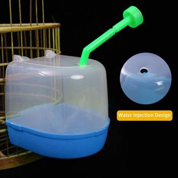 1Pcs Plastic Bath Bird Cage Parrot Supplies Anti-aging Bathing Tub For Small Birds Canary Budgerigar 4