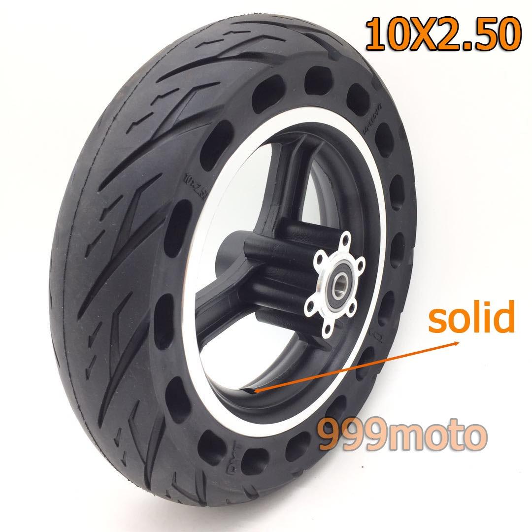 10x2.50 pneus de roue solide pneu solide pneus de Scooter électrique sans Inflation pour accessoire de Scooter électrique de 10 pouces
