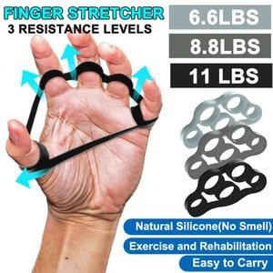 Hand Gripper Silicone Finger Expander Exercise Grip Hand Wrist Strength Trainer Finger Exerciser Resistance Bands Fitness
