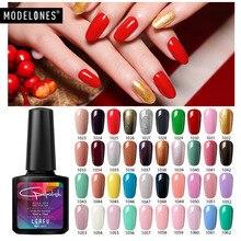 Modelones 10 мл Модный Цветной УФ-гель длительного действия оранжевого цвета Гель-лак для ногтей Дизайн ногтей салон лак для ногтей использовать Базовое покрытие Гель-лак