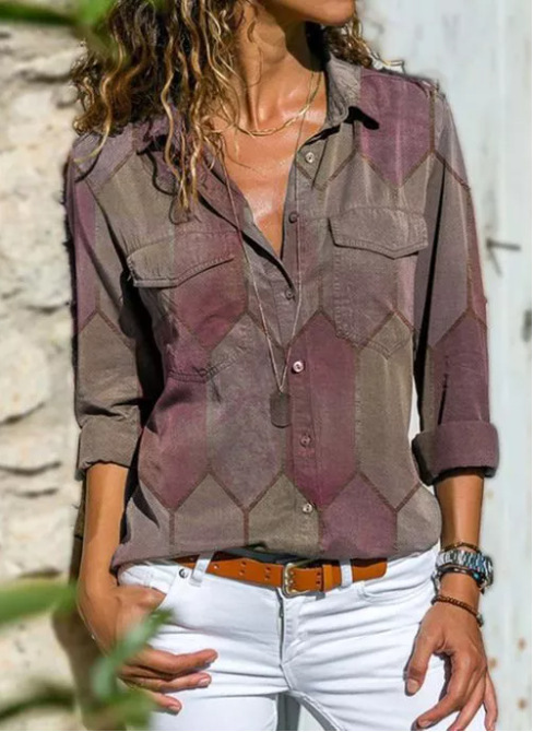 2020 Autumn Casual Women Blouse Shirts Retro V Neck Button Long Sleeve Tops Elegant Office Ladies Plus Size Shirt Blusa Feminina 11
