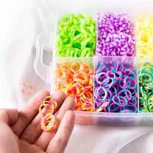 Image 3 - 9000pc DIY Toys Rubber Loom Bands Set Kid DIY Bracelet Silicone Rubber Bands Elastic Weave Loom Bands Toy Children Goods