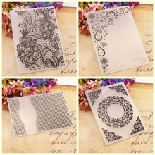 New design Flowers Plastic Embossing Folders background for Card Making Scrapbooking Paper DIY Craft Decoration Supplies
