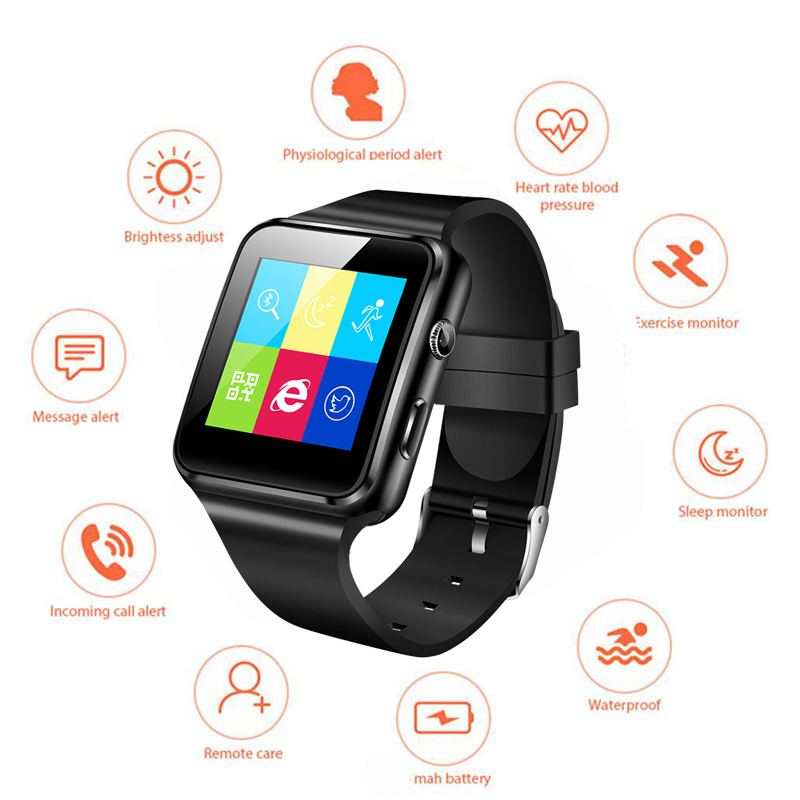 Smart-Watch Support Whatsapp New And Camera SIM for iPhone Millet Tf-Card X6 Hot-Selling