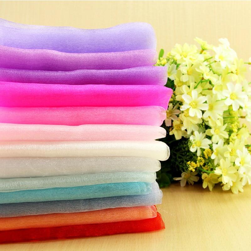 72 CM x 10M crystal yarn organza tulle roll for wedding decoration birthday party 33