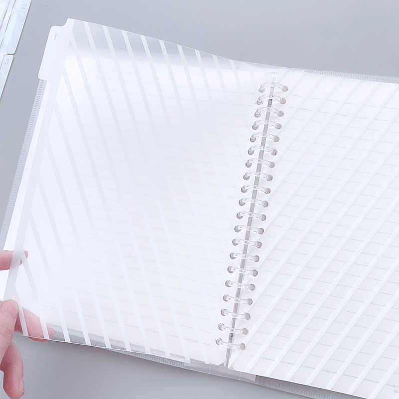 5 Sheet/pack A5/B5/A4 Binder Index Page for Loose Shell Notebook Dividers 20/26/30 Holes Interleaf Office Supplies Stationery