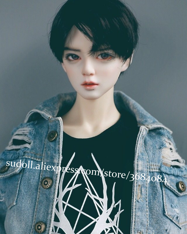 SuDoll <font><b>1/3</b></font> <font><b>BJD</b></font> <font><b>SD</b></font> Doll Handsome Boy Man Bare Doll Handmade Resin Gift Random Eyes High Quality image