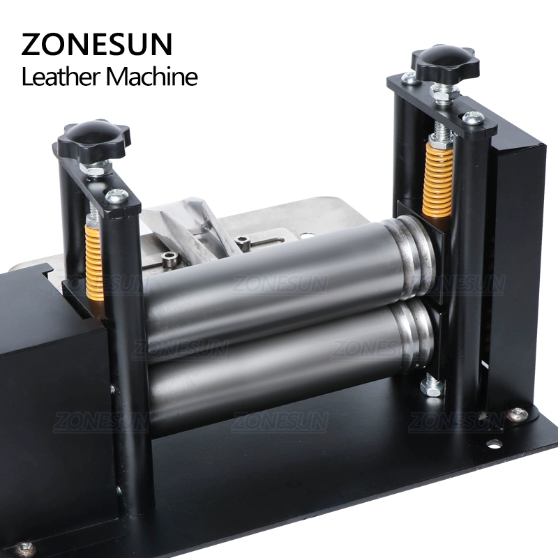 ZONESUN Manual Leather Belt Rolling Machine Shoulder Strap Leather Laminating Folding Machine Edge Sealing Machine-2