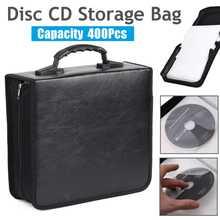 400 диски ручной Портативный компакт-дисков DVD кошелек сумка для хранения чехол альбом Органайзер медиа-продукции черного цвета из искусстве...