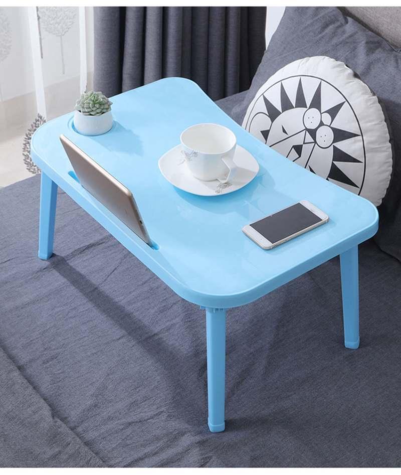 Adjustable Notebook Folding Laptop Table Desks Breakfast Laptop Desk Tea Food Serving Table Folding Legs Computer Desk Stand