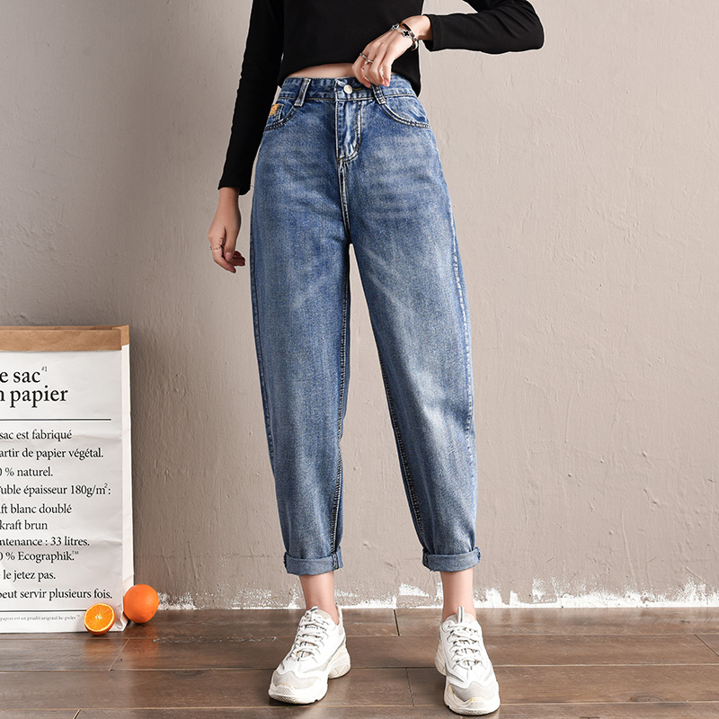 Spring Summer Autumn Jeans New Korean Fashion Casual Tide High Waist Jeans Plus Size Female Jeans Women Jeans Loose Harem Pants
