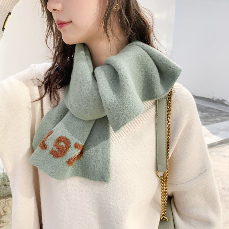 winter Scarf cashmere women scarves Phshmina Cashmere Women Blanket Kitted Wool and Shawls cachecol