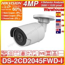 Hikvision DS 2CD2045FWD I POE Camera Video Surveillance 4MP IR Network Dome Camera 30 M IR IP67 H.265+ SD Card Slot