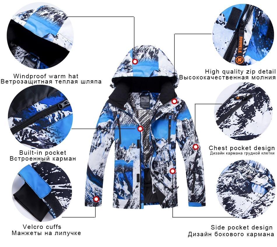 2020 mulheres homens jaqueta de esqui inverno