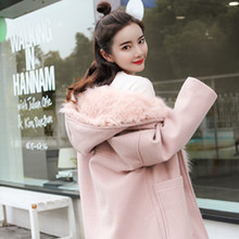 Women Coat outerwear winter clothing fashion warm woolen blends female