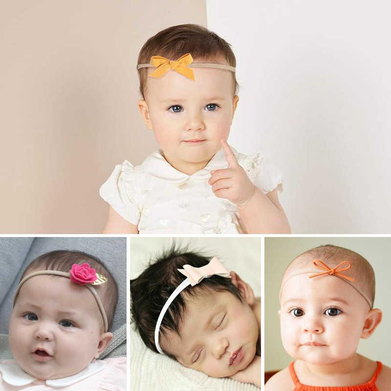 Gorąca kokardka dla dzieci opaska do włosów dla dzieci różowy zdjęcie opaska do włosów bez śladu z pałąkiem na głowę ręcznie robiona włókniny kwiat bow dziewczyny akcesoria do włosów
