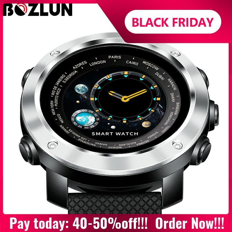 Bozlun 3D montre numérique intelligente hommes Sport de plein air montres moniteur de fréquence cardiaque podomètre calories Fitness Bluetooth Smartwatch W30