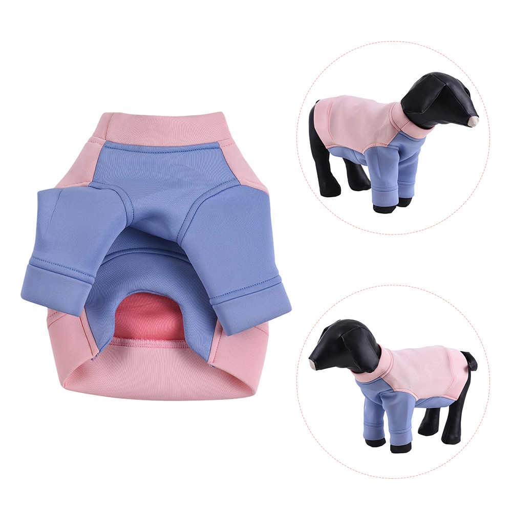 New Pet Dog Clothes Hoodie Sweater Fleece Color Blocking Cute Puppy Costume Supplies Soft Cotton Clothes Dog Pet Jacket Vest