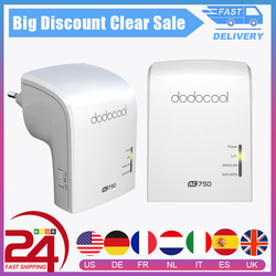 dodocool AC750 Wifi Repeater Router AP Access Point Mode 2.4/5GHz Dual Band Wireless Router 3 Internal antennas Repeater WiFi