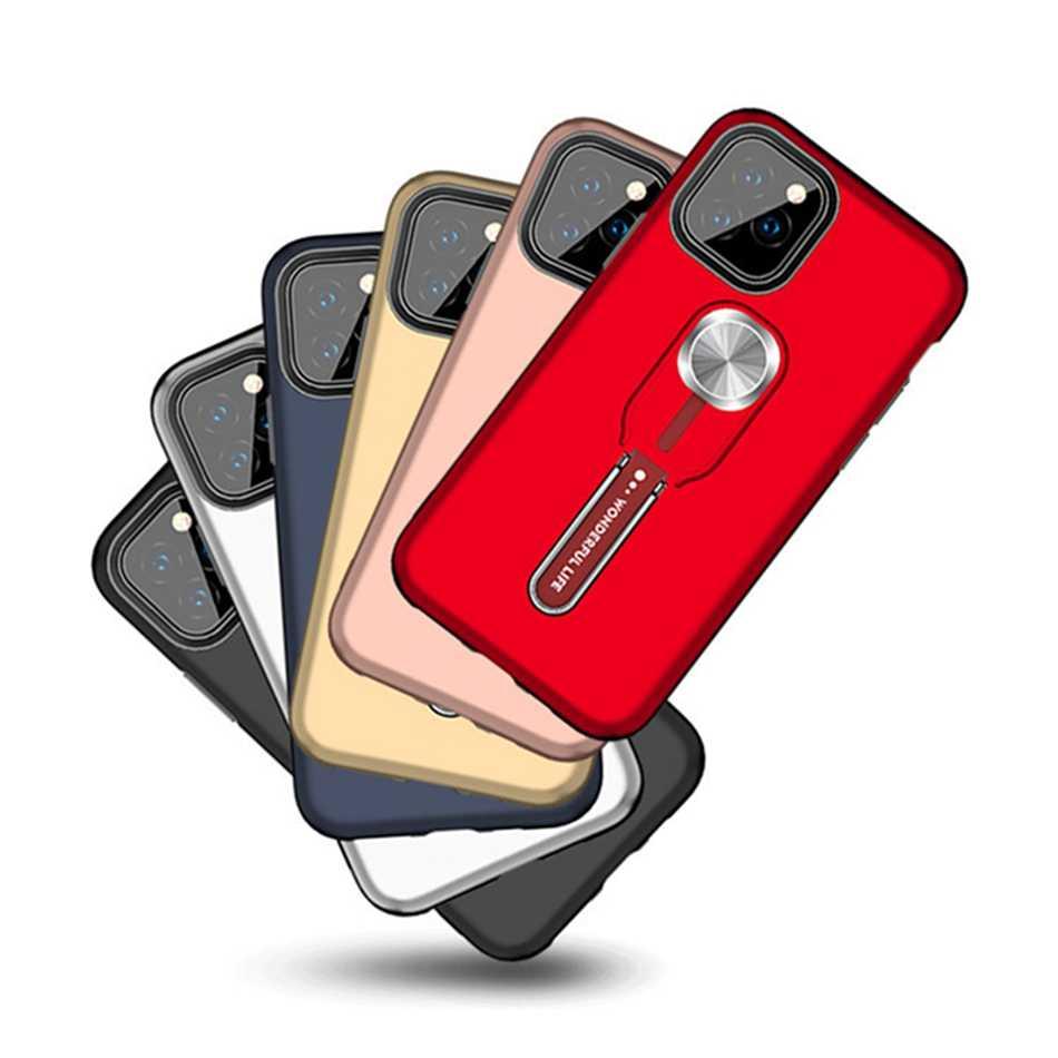 فاخر المغناطيسي البنصر حامل الهاتف حقيبة لهاتف أي فون 11 برو X XR XS ماكس غطاء سيليكون ل iPhone11 6 6s 7 8 Plus عودة Coque