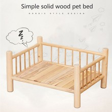 Pet supplies dog bed solid wood dog cage wooden cat bed solid wood dog bed kennel dog house pet solid wood cat bed