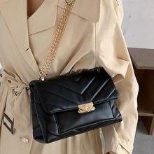 Модные квадратные женские сумки через плечо с цепочками дизайнерская