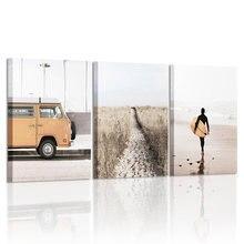 Настенный плакат для пляжа серфинга печать пейзаж холст живопись
