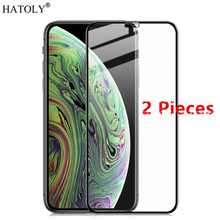 2Pcs For iPhone 11 Pro Max Glass Tempered for HD Screen Protector Protective