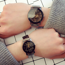 2019 New Korean Version Of The Trend Simple Personality Retro Harajuku Style Casual Men and Women Quartz Just Brought Watch