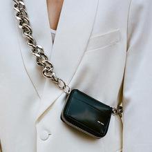 Torebka Crossbody miękka PU dziewczyna mała torba na ramię na zamek na prezenty torebka damska na monety Mini modna torba na klatkę piersiowa tanie tanio Anyrandy CN (pochodzenie) 380g WOMEN Stałe SQUARE zipper Moda