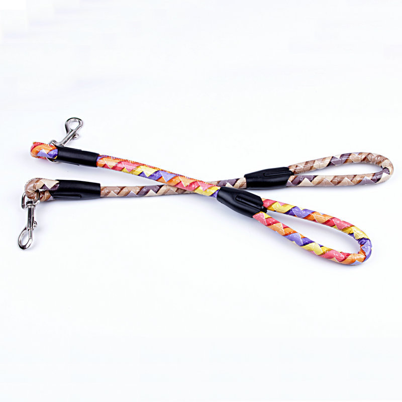 Special Offer PU Leather Rugged 1.5 Cm Pet Short Hand Holding Rope Large And Medium-sized Dog Hand Holding Rope