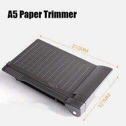 A5 бумажный триммер для фото бумаги гильотина Встроенная линейка мини-аппарат для резки бумаги канцелярские принадлежности для офиса школы