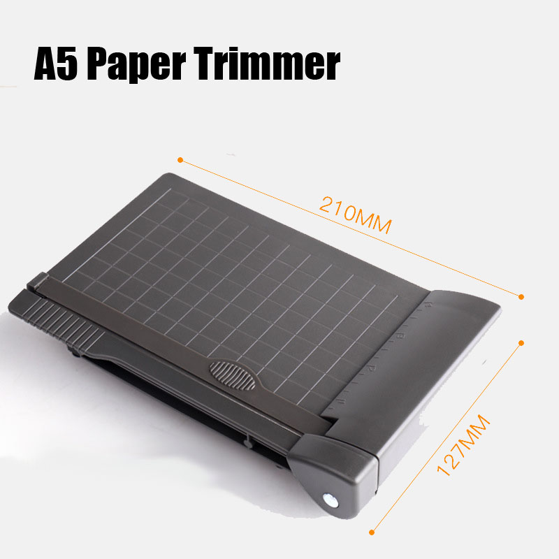 A5 Paper Trimmer Photo Paper Guillotine Built-In Ruler Mini Paper Cutter Office School Stationery Cutting Supplies