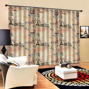 personality curtains  romantic curtains  Luxury Blackout 3D Window Curtains For Living Room Bedroom Customized size
