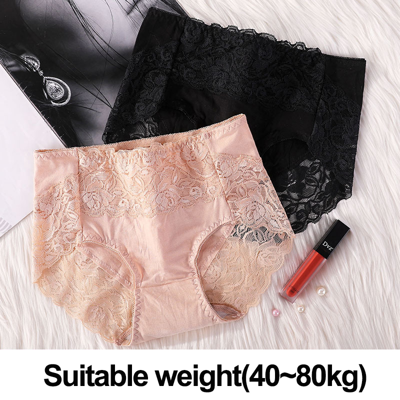 XL~4XL Mid-Waist Underpants <font><b>Sexy</b></font> Lace Briefs Antibacterial <font><b>Panties</b></font> For <font><b>Women</b></font> Lingerie Soft <font><b>Breathable</b></font> Underwear Female Intimates image