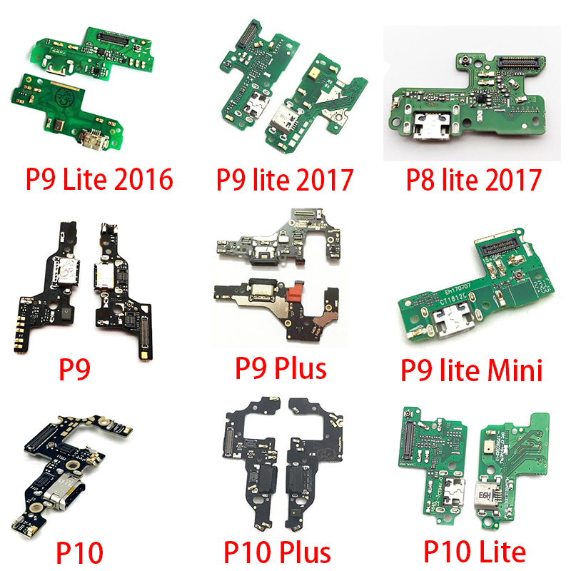 New USB Flex Cable Dock Connector Charging Port Charger Board For Huawei P10 Plus P20 Pro P30 P9 P8 Lite 2017 Mini Replacement