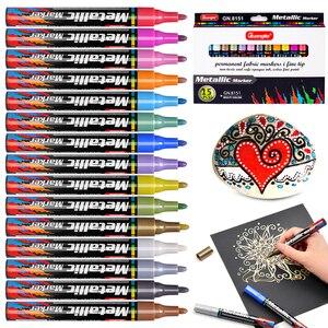 Image 4 - 15 kolorów akrylowy marker do malowania marker szkic piśmiennicze pióro malowanie zestaw do malowania szklana ceramiczna skała porcelanowa