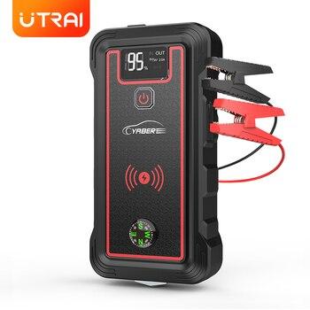 Car Jump Starter 23800mAh 2500A Power Bank Car Battery with 10W Wireless Charger LCD Screen Safety Hammer  Jump starter