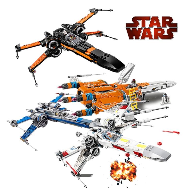 Compatible 05004 05145 05029 X Wing Tie Fighter Building Blocks Star Plan Wars Children Toy 75149 Bricks Toys For Children