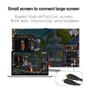 Image 3 - Кабель HDMI в HDMI 2,0 4k HD 1080P 3D, высокоскоростной адаптер HDMI для ТВ проектора, компьютера, 1 м, 1,5 м, 2 м, 3 м